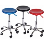 Artisan Airlift Desk Height Stool: Metalic Silver