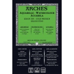 "Arches® 22"" x 30"" 140 lb./300g Cold Press Watercolor Sheets Natural White UPC Labeled 10-Pack"