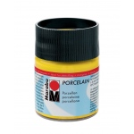 Marabu Porcelain Paint Sunshine Yellow 50ml: Yellow, Jar, 50 ml, Porcelain, (model M11059005220), price per each