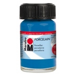 Marabu Porcelain Paint Gentian 15ml: Blue, Jar, 15 ml, Porcelain