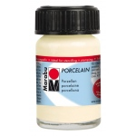 Marabu Porcelain Paint Ivory 15ml: White/Ivory, Jar, 15 ml, Porcelain, (model M11059039271), price per each