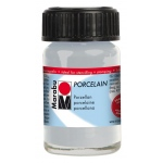 Marabu Porcelain Paint Metallic Silver 15ml: Metallic, Jar, 15 ml, Porcelain, (model M11059039782), price per each
