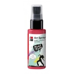 Marabu Art Spray Cherry Red: Red/Pink, Bottle, 50 ml, Acrylic