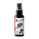 Marabu Art Spray Black: Black/Gray, Bottle, 50 ml, Acrylic, (model M12099005073), price per each