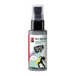 Marabu Art Spray Silver: Metallic, Bottle, 50 ml, Acrylic, (model M12099005082), price per each