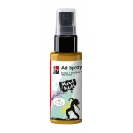 Marabu Art Spray Gold: Metallic, Bottle, 50 ml, Acrylic, (model M12099005084), price per each