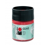 Marabu Glas Paint Cherry 50ml : Red/Pink, Jar, 50 ml, Glass