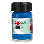 Marabu Glas Paint Dark Ultramarine 15ml: Blue, Jar, 15 ml, Glass