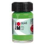 Marabu Glas Paint Light Green 15ml : Green, Jar, 15 ml, Glass, (model M13069039062), price per each