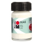 Marabu Glas Paint White 15ml : White/Ivory, Jar, 15 ml, Glass, (model M13069039070), price per each