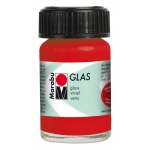 Marabu Glas Paint Cherry 15ml : Red/Pink, Jar, 15 ml, Glass