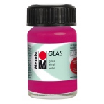 Marabu Glas Paint Raspberry 15ml : Red/Pink, Jar, 15 ml, Glass, (model M13069039131), price per each