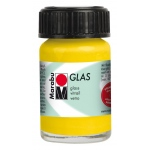 Marabu Glas Paint Sunshine Yellow 15ml : Yellow, Jar, 15 ml, Glass, (model M13069039220), price per each