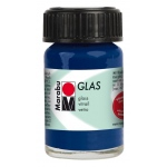 Marabu Glas Paint Night Blue 15ml : Blue, Jar, 15 ml, Glass, (model M13069039293), price per each