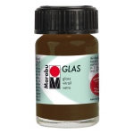 Marabu Glas Paint Cocoa 15ml: Brown, Jar, 15 ml, Glass, (model M13069039295), price per each