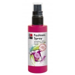 Marabu Fashion Spray Raspberry 100ml: Red/Pink, Bottle, 100 ml, Fabric, (model M17199050005), price per each