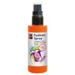 Marabu Fashion Spray Red Orange 100ml : Orange, Bottle, 100 ml, Fabric, (model M17199050023), price per each