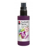 Marabu Fashion Spray Aubergine 100ml : Purple, Bottle, 100 ml, Fabric, (model M17199050039), price per each
