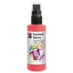 Marabu Fashion Spray Flamingo 100ml: Red/Pink, Bottle, 100 ml, Fabric, (model M17199050212), price per each