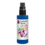 Marabu Fashion Spray Marine Blue 100ml : Blue, Bottle, 100 ml, Fabric, (model M17199050258), price per each