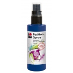 Marabu Fashion Spray Night Blue 100ml: Blue, Bottle, 100 ml, Fabric, (model M17199050293), price per each