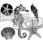 The Crafters Workshop - Stencil - Sea Creatures - 12x12