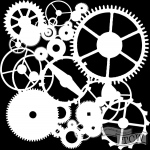 The Crafters Workshop - Stencil - Gears - 6x6