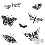 The Crafters Workshop - Stencil - Mariposas - 6x6