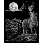"Royal & Langnickel® Engraving Art Set Silver Wolf Moon: 8"" x 10"", Metallic, (model SILF33), price per set"