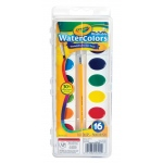 Crayola® Washable Watercolor 16-Color Set: Multi, Watercolor, (model 53-0555), price per set