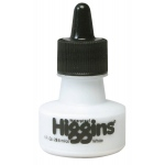 Higgins® Waterproof Color Drawing Ink White: White/Ivory, Bottle, Dye-Based, 1 oz, Waterproof, (model SN44113), price per each
