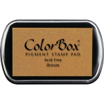 ColorBox® Full Size Ink Pad Bronze: Metallic, Pad, Pigment, Full Size Rectangle, (model CS19094), price per each