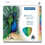 Staedtler® Triangular Colored Pencils 24-Set: Multi, Pencil, 24 Pencils, Colored, (model 1270C24), price per set