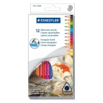 Staedtler® Triangular Watercolor Pencils 12-Set: Multi, Pencil, 12 Pencils, Watercolor, (model 1271C12), price per set