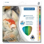Staedtler® Triangular Watercolor Pencils 24-Set: Multi, Pencil, 24 Pencils, Watercolor, (model 1271C24), price per set