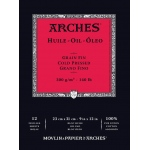 "Arches® 9"" x 12"" Oil Paper 12-Sheet Pad, (model 1795108), price per pad"
