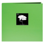 "Pioneer® 12 x 12 Fabric Frame Scrapbook Citrus Green: Green, Fabric, 10 Page Protectors, 12"" x 12"", (model MB10CBFS-CG), price per each"