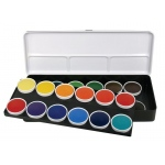 Finetec Watercolor Paint Transparent 24-Color Set: Multi, Pan, Watercolor