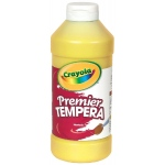 Crayola® Premier Tempera Paint 16oz Yellow: Yellow, Bottle, 16 oz, Tempera, (model 54-1216-034), price per each
