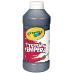Crayola® Premier Tempera Paint 16oz Black: Black/Gray, Bottle, 16 oz, Tempera, (model 54-1216-051), price per each