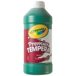 Crayola® Premier Tempera Paint 16oz Green: Green, Bottle, 16 oz, Tempera, (model 54-1216-044), price per each