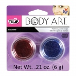 Tulip® Body Art™ Blue and Red Body Glitter: Blue, Red/Pink, Jar, 4.5 g, (model D28853), price per set