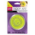 Tulip® Body Art™ Neon Yellow Paint: Yellow, Jar, 18 g