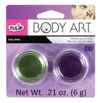 Tulip® Body Art™ Purple and Green Body Glitter: Green, Purple, Jar, 4.5 g, (model D28856), price per set