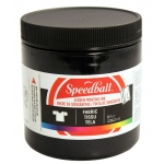 Speedball® 8 oz. Fabric Screen Printing Ink Black: Black/Gray, Jar, Fabric, 8 oz, Screen Printing