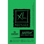 "Canson® XL® 3 1/2"" x 5 1/2"" Recycled Sketch Pad (Fold Over): Fold Over, White/Ivory, Pad, 100 Sheets, 3 1/2"" x 5 1/2"", Medium"