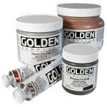 Golden® Fluid Acrylic Iridescent Silver (fine) 4 oz.: Metallic, Bottle, 118 ml, 4 oz, Acrylic, (model 0002457-4), price per each