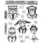Stampers Anonymous - Tim Holtz - Hipster Stamp Set