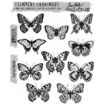 Stampers Anonymous - Tim Holtz - Flutter Stamp Set