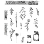 Stampers Anonymous - Tim Holtz - Flower Jar Stamp Set